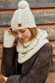 Winter Angel Bobble Beanie
