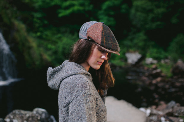 Ladies Donegal Tweed Patch Cap