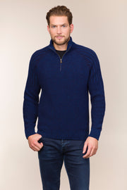 Ribbed Boatman Zip neck Sweater
