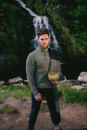 Men's Donegal Fleck Merino Wool Block Scarf.