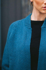 Ballymoon Open Cardigan with Deep Rib Cuffs