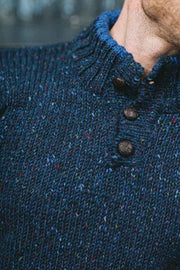 Carrick 3 Button Fleck Sweater