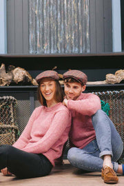'Pretty in Pink' Ladies Donegal Flecked Tweed Sweater