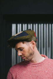 Donegal Tweed Patch Cap