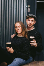 Ladies 'Guinness' Tweed Fleck Sweater