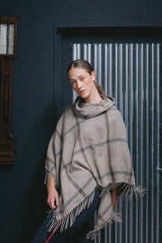 Hawthorn Poncho with High Neck