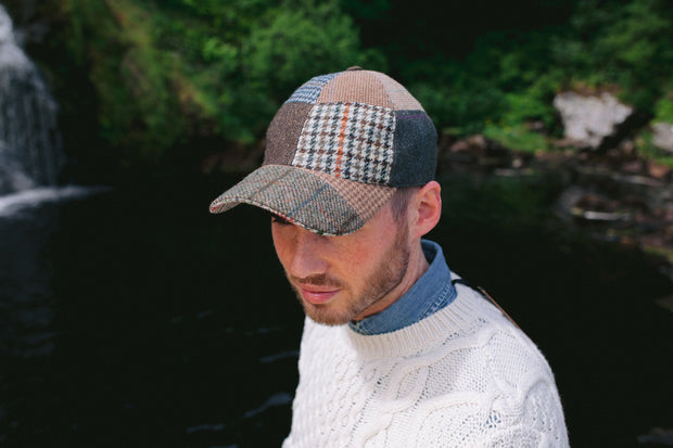 Baseball Donegal Tweed Patch Cap