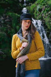 Ladies Donegal Fleck Merino Wool Block Scarf.