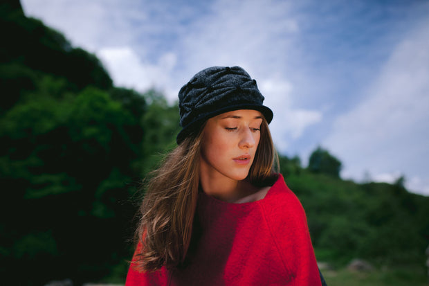 Ruffled Cloche Hat