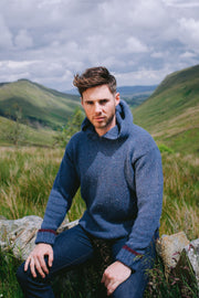 Mens Flecked Yarn Hoody