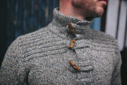 Croppy Boy Toggle Button Sweater