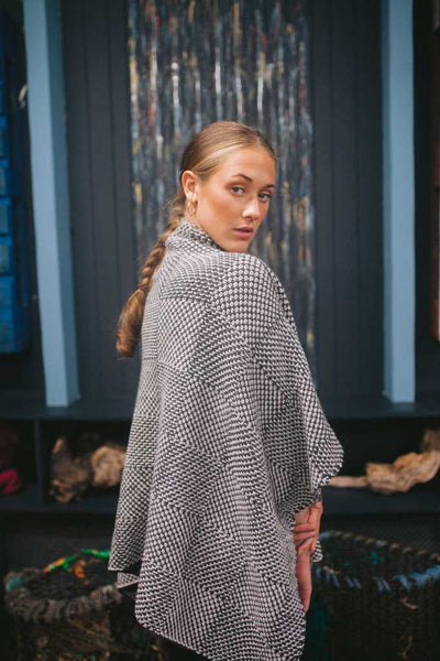 Glenties Shadow Blocked Funnel Neck Sweater