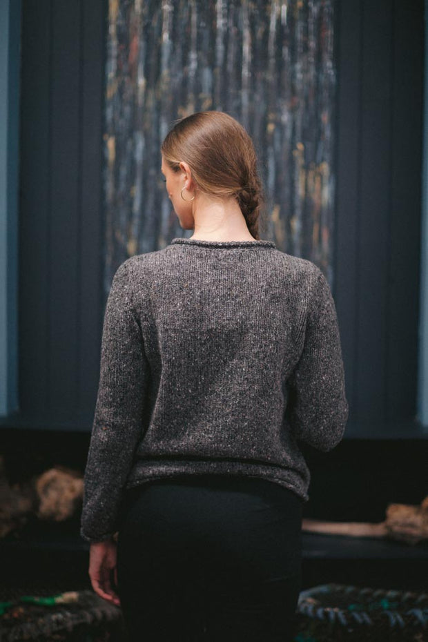 Donegal Fleck Merino Roll Neck Sweater