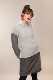 100% Eco Baby Alpaca Reversible Funnel Neck Sweater