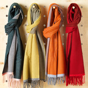 Luxurious Cashmere Reversible Wrap