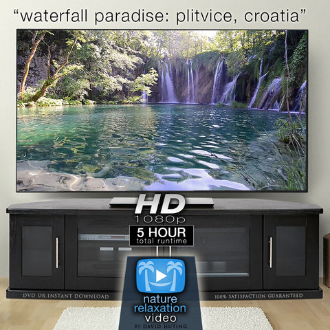 """Waterfall Paradise: Plitvice Lakes, Croatia"" 5 HOUR Dynamic HD Nature Film"