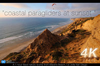 """Coastal Paragliders at Sunset"" 1 HR Real-Time Static Scene 4K"