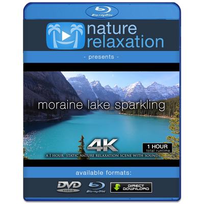 """Moraine Lake Sparkling"" 1HR Static Nature Relaxation Video 4K"