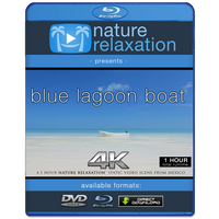 """Blue Lagoon Boat + Beach"" 1 HR Static 4K Nature Video"