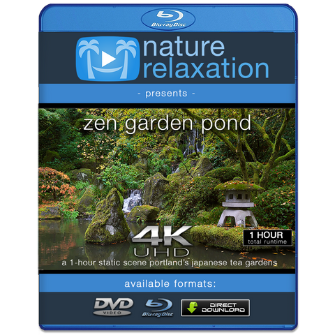 """Zen Garden Pond"" 1 HR Static Nature Video Screensaver 4K"