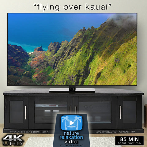 """Flying Over Kauai"" Hawaii 1.5 HR Aerial Film in 4K UHD w/ Music"