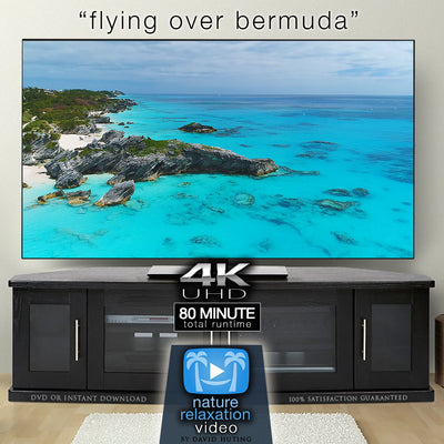 """Flying Over Bermuda"" 80 Min Aerial/Drone Film + Music (4K)"