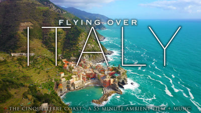 """Flying Over Italy"" Cinque Terre Coast 1 HR Drone Film + Music in 4K"
