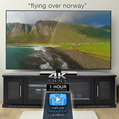 """Flying Over Norway"" 1 HR DRONE Film in 4K UHD w/ Music"