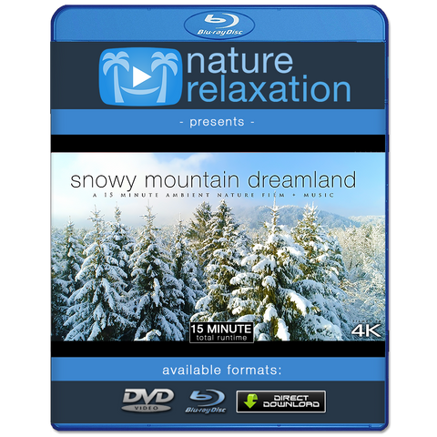 """Snowy Mountain Dreamland"" 15 MIN Dynamic Aerial Nature Video w Music 4K"