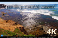"""Sparkling Coastal Waves"" 2 Hour 4K Static Scene Nature Relaxation Video"