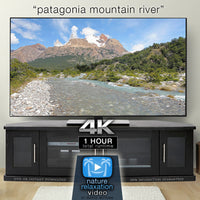 """Patagonia Mountain River"" 1 HR  Static Nature Video 4K"