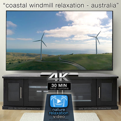 """Coastal Windmills Relaxation"" Australia 30 Min Aerial Film in 4K 60"