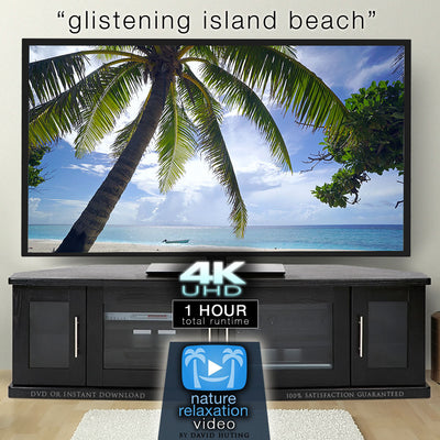 """Glistening Island Beach"" 1 HR 4K Static Fiji Video"