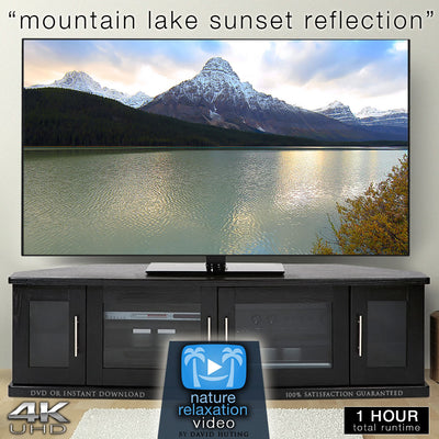 """Mountain Lake Sunset Reflection"" 1 HR Static 4K Nature Relaxation Video"