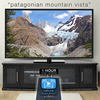"""Patagonian Mountain Vista"" 1HR Static Nature Relaxation Video 4K"