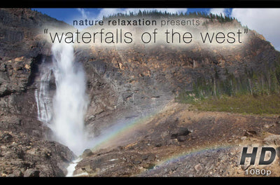 """Waterfalls of the West"" 10 Min Dynamic Nature Relaxation Music Video"