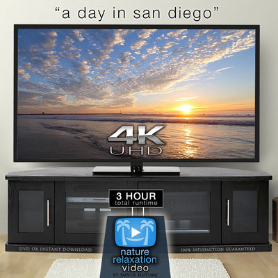 """A Day in San Diego"" 3 Hours of Pure 4K Coastal Beach Scenes"