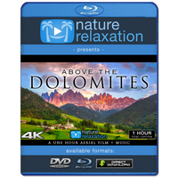 """Above the Dolomites"" Italy 1 Hour Aerial 4K Nature Film + Music"