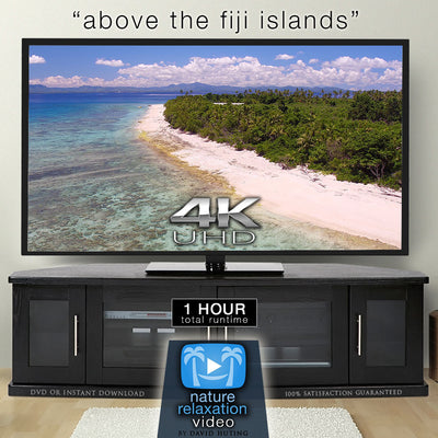 """Above the Fiji Islands"" 1 HR DRONE Film in 4K UHD w/ Music"