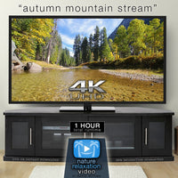 """Autumn Mountain Stream"" 1 HR  Static Nature Video 4K"