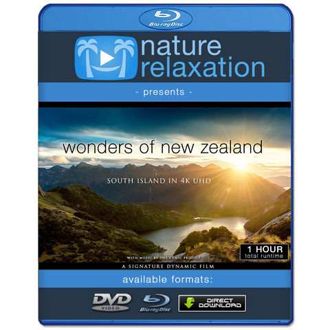 """Wonders of New Zealand: South Island"" 1 HR Dynamic 4K Ambient Nature Film"