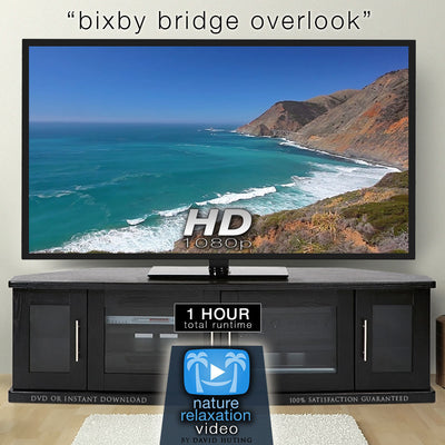 """Bixby Bridge Overlook"" 1 HR Static Nature Scene HD 1080p"