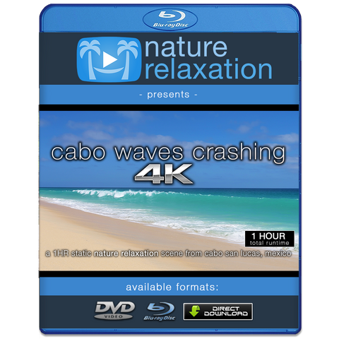 """Cabo Waves Crashing"" 1 Hour Still 4K Nature Relaxation Video"