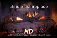 """Christmas Fireplace"" 38 Min Music Video HD 1080p"
