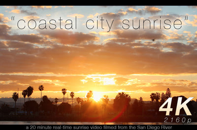 """Coastal City Sunrise"" 20 MIN 4K Nature Relaxation Video"