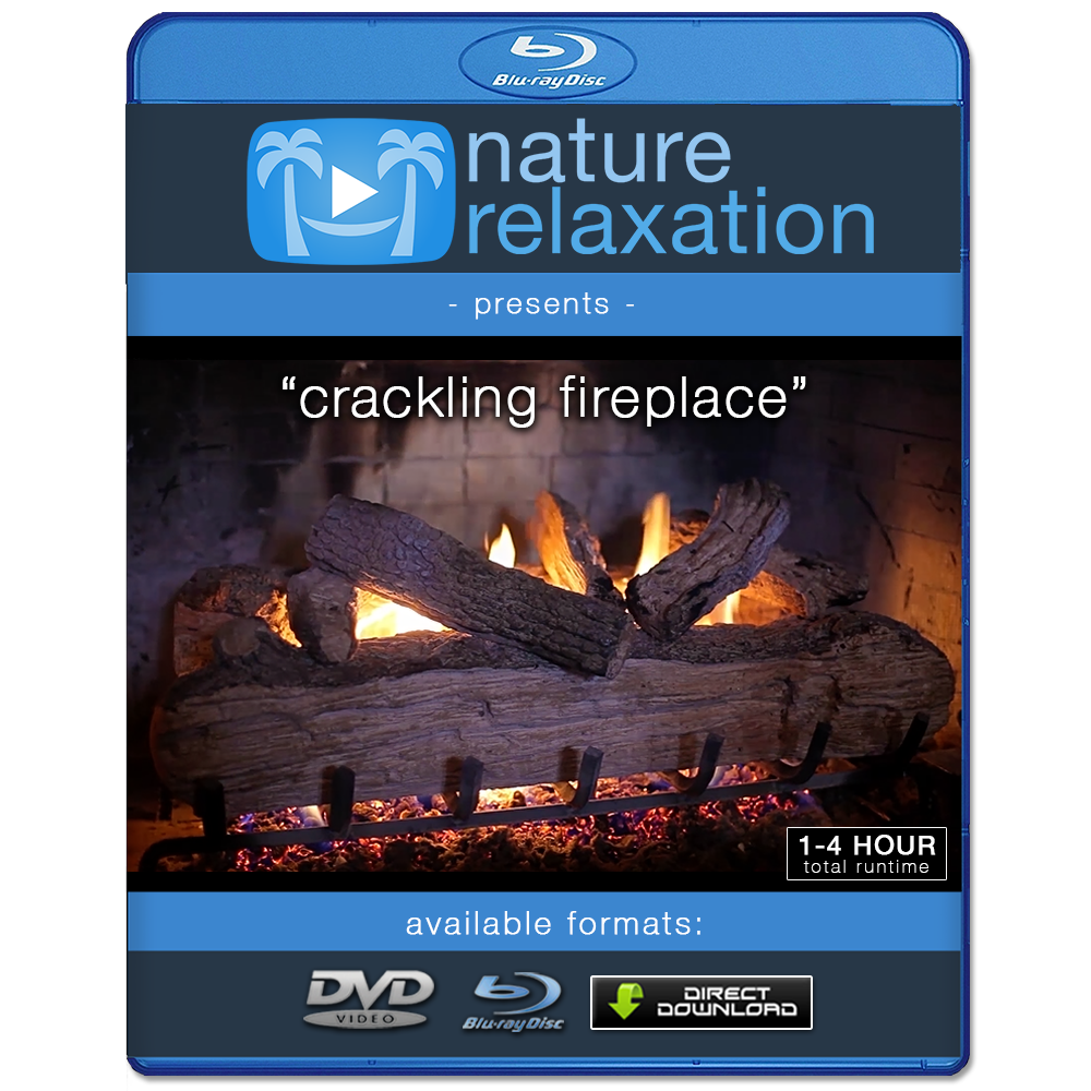"crackling fireplace"" looping nature relaxation video screensaver hd"