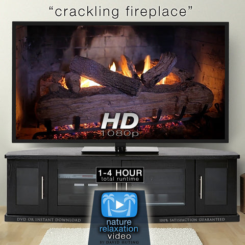 """Crackling Fireplace"" Looping Nature Relaxation Video Screensaver HD 1080p"