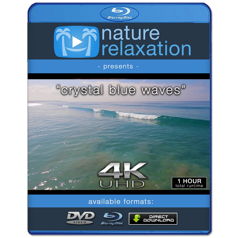 """Crystal Blue Waves"" 1 Hour Still 4K Nature Relaxation Video"