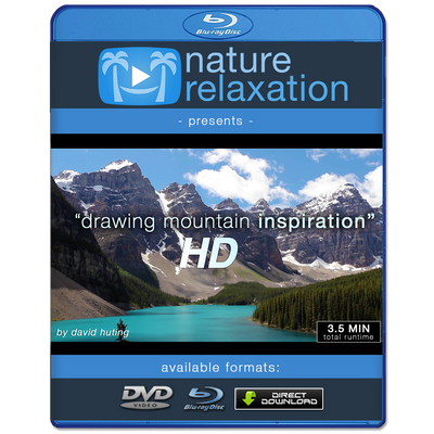 """Drawing Mountain Inspiration"" Uplifting Short Nature Music Video HD 1080p"