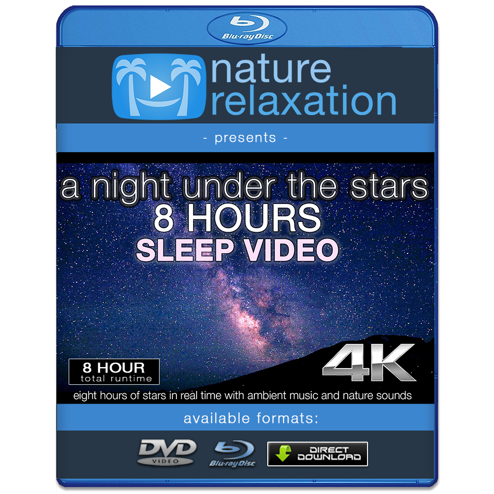 """A Night Under the Stars"" 8 HR Sleep Enhancing Timelapse Video 4K"